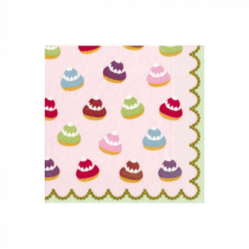 Set de 20 serviettes Petit Chou - rose