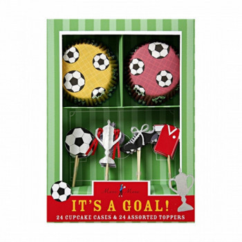 Kit pour cupcakes Football