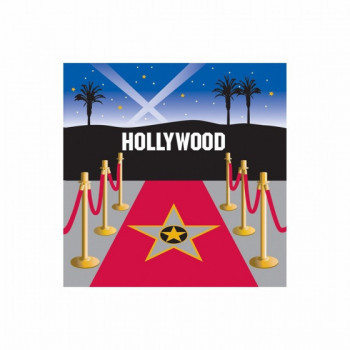 Set de 16 serviettes Tapis Hollywood