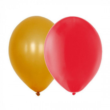 Sachet de 15 ballons latex - assortis or et rouge