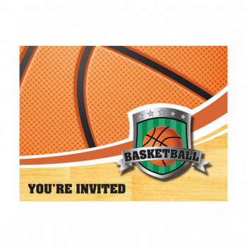 Set de 8 cartes d'invitation Basketball