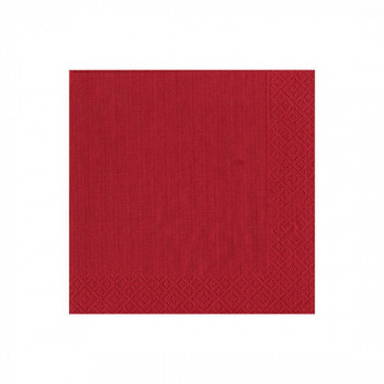 Set de 20 serviettes rouge