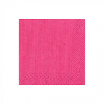 Set de 20 serviettes fuchsia