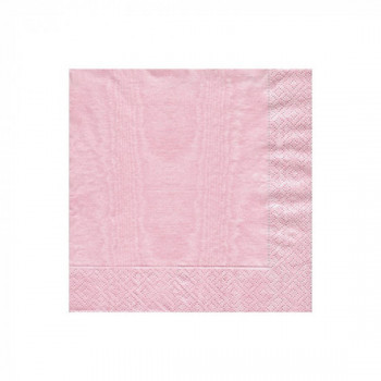 Set de 20 serviettes rose pétale