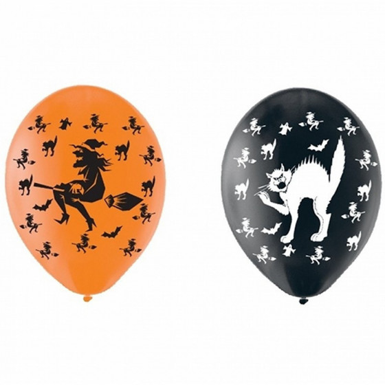 Sachet de 6 ballons Trick or Treat