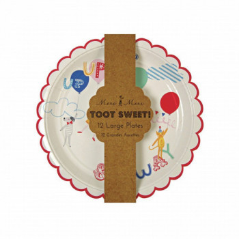 Set de 12 assiettes Toot Sweet