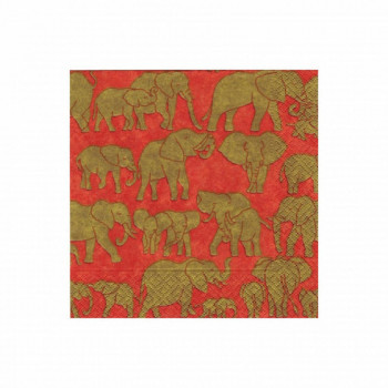 Set de 20 serviettes - éléphants