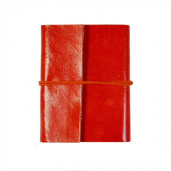 Petit carnet en cuir - orange