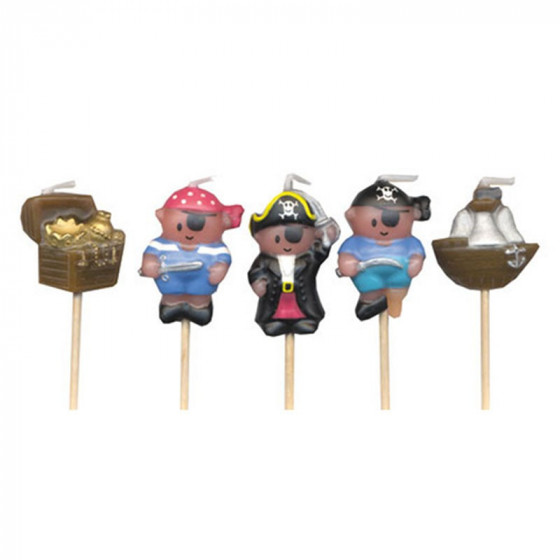 Set de 5 bougies Trésor du pirate