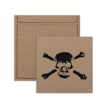 Set de 6 cartes d'invitation pirate