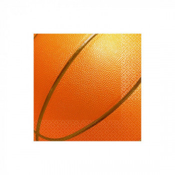 Set de 16 serviettes Basketball