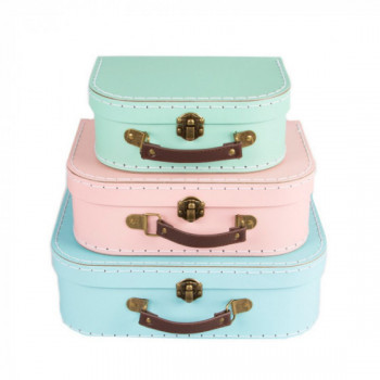 Set de 3 valises Pastel