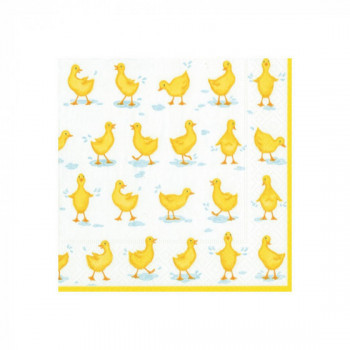 Set de 20 serviettes Poussins
