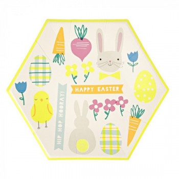 Set de 12 assiettes Happy Easter