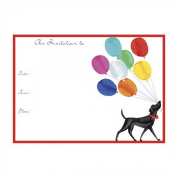 Set de 8 cartes d'invitation Birthday Parade