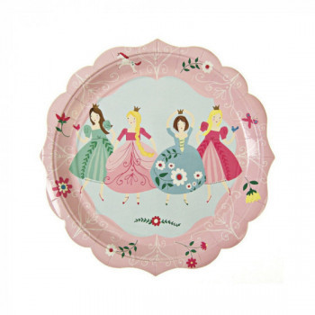 Set de 8 assiettes - I'm a princess