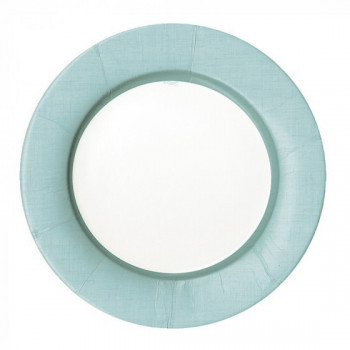 Set de 8 assiettes bleu ciel GM