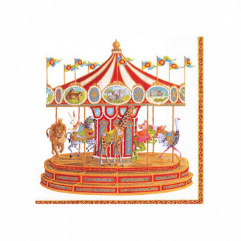 Set de 20 serviettes Carrousel
