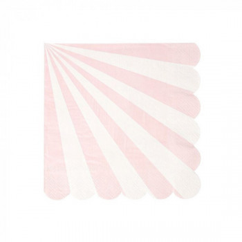 Set de 20 serviettes Toot Sweet - rose