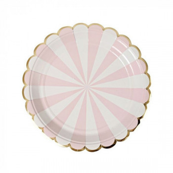 Set de 8 assiettes Toot Sweet - rose