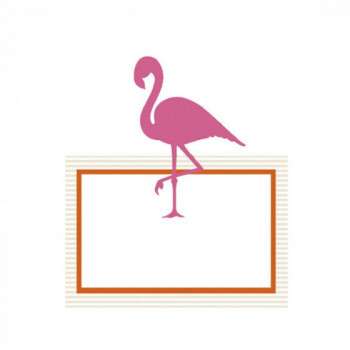 Placecards Flamant Rose