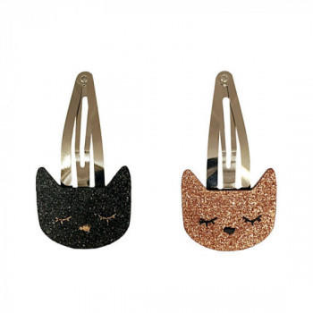 Barrette chat bronze ou noir
