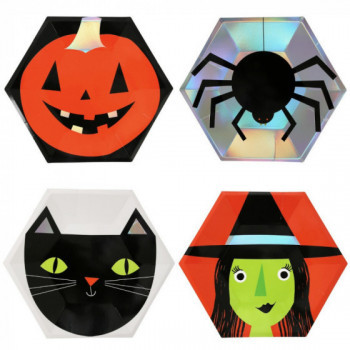 Set de 8 assiettes Halloween