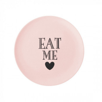 Assiette Eat Me Rose