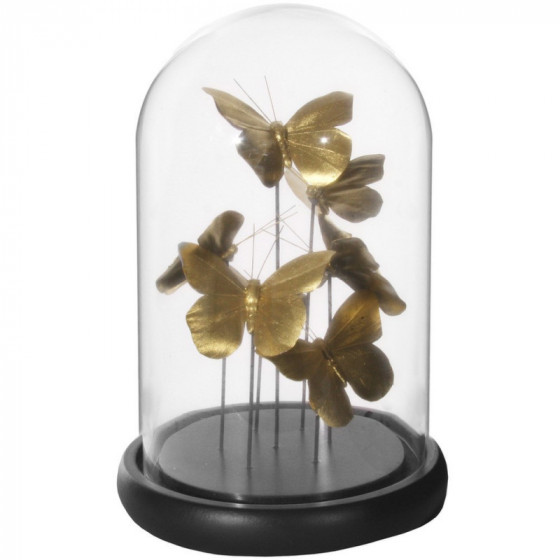 Cloche papillons or