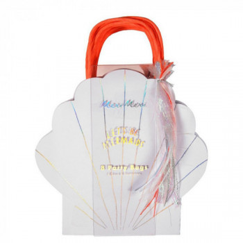 Set de 8 party bags coquillage