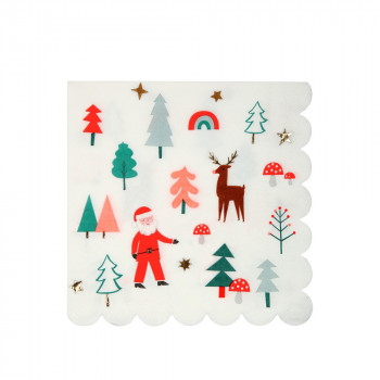 Set de 20 serviettes de Noël GM