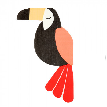 Set de 20 serviettes - Toucan