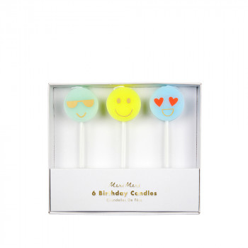 Set de 6 bougies Smiley