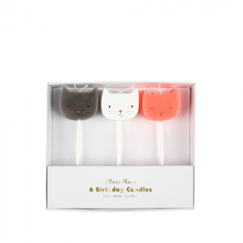 Set de 6 bougies Chats