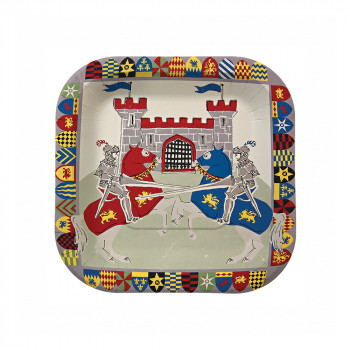 Set de 12 assiettes chevalier