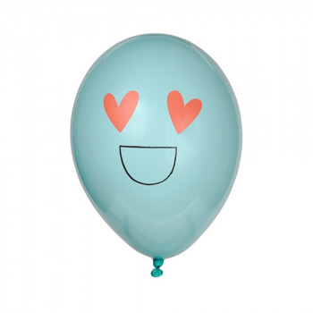 Set de 8 ballons latex Smiley