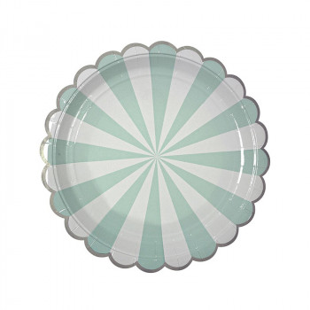 Set de 8 assiettes Toot Sweet - Aqua