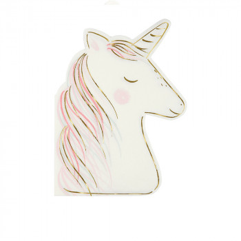 Set de 16 serviettes Licorne