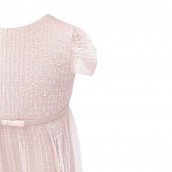 Robe plumetis rose