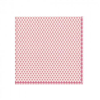 Set de 20 serviettes Calico rose