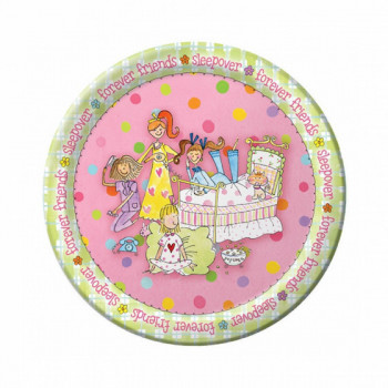 Set de 8 assiettes Pyjama Party GM