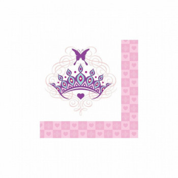 Set de 16 serviettes Princesse PM