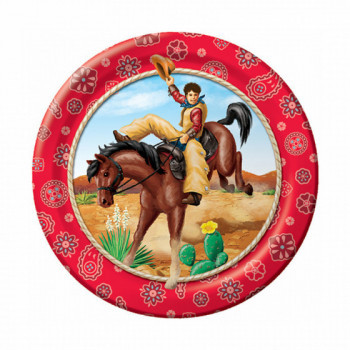 Set de 8 assiettes Far West GM