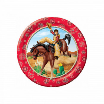 Set de 8 assiettes Far West PM