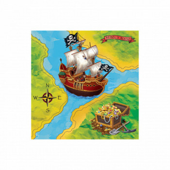 Set de 16 serviettes Pirates GM