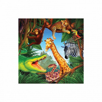 Set de 16 serviettes Jungle GM