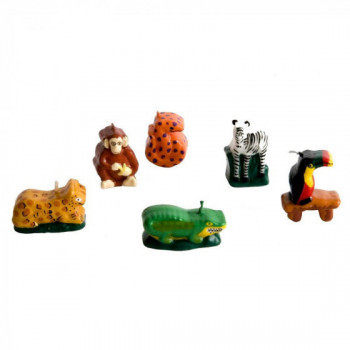 Set de 6 bougies d'anniversaire Jungle