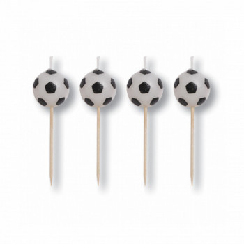 Set de 6 bougies d'anniversaire Football