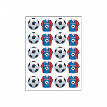 Set de 4 planches stickers Football
