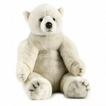 Peluche ours polaire assis 70 cm
